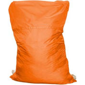 "18"" Ropeless Hamper Bag, Poly/Cotton, Orange, Straight Bottom - Pkg Qty 12"