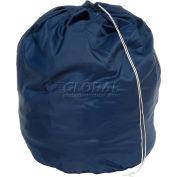 """18"""" Drawcord Laundry Bag, Nylon, Blue, Round Bottom - Pkg Qty 12"""
