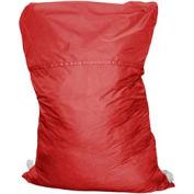 """27"""" Ropeless Hamper Bag, Nylon, Red, Straight Bottom - Pkg Qty 12"""