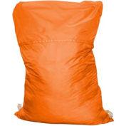 "27"" Ropeless Hamper Bag, Nylon, Orange, Straight Bottom - Pkg Qty 12"