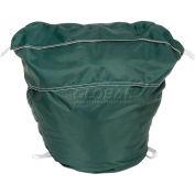 "27"" Ropeless Hamper Bag, Nylon, Green, Round Bottom - Pkg Qty 12"