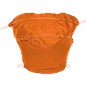 """27"""" Ropeless Hamper Bag, Nylon, Orange, Round Bottom - Pkg Qty 12"""