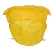 "27"" Ropeless Hamper Bag, Nylon, Yellow, Round Bottom - Pkg Qty 12"