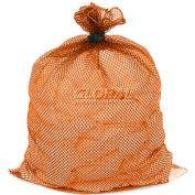 Mesh Bag W/ Dual Grip Rubber Closure, Orange, 18x24, Heavy Weight - Pkg Qty 12