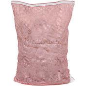 Mesh Bag W/ Nylon Zipper Closure, Red, 18x24, Heavy Weight - Pkg Qty 12