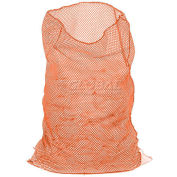 Mesh Bag W/Out Closure, Orange, 18x30, Heavy Weight - Pkg Qty 12