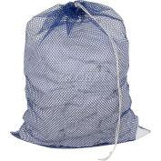 Mesh Bag W/ Drawstring Closure, Blue, 18x30, Heavy Weight - Pkg Qty 12