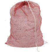 Mesh Bag W/ Drawstring Closure, Red, 24x36, Heavy Weight - Pkg Qty 12