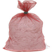 Mesh Bag W/ Dual Grip Rubber Closure, Red, 24x36, Heavy Weight - Pkg Qty 12