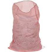 Mesh Bag W/Out Closure, Red, 30x40, Heavy Weight - Pkg Qty 12