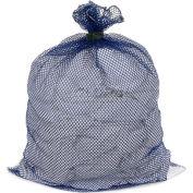 Mesh Bag W/ Dual Grip Rubber Closure, Blue, 30x40, Heavy Weight - Pkg Qty 12