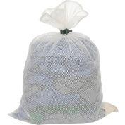 Mesh Bag W/ Dual Grip Rubber Closure, White, 30x40, Heavy Weight - Pkg Qty 12
