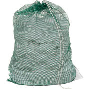 Mesh Bag W/ Drawstring Closure, Green, 18x24, Medium Weight - Pkg Qty 12