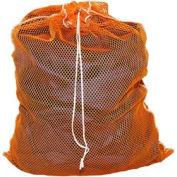 Mesh Bag W/ Drawstring Closure, Orange, 18x24, Medium Weight - Pkg Qty 12