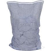 Mesh Bag W/ Nylon Zipper Closure, Blue, 18x24, Medium Weight - Pkg Qty 12
