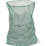 Mesh Bag W/Out Closure, Green, 18x30, Medium Weight - Pkg Qty 12
