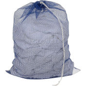 Mesh Bag W/ Drawstring Closure, Blue, 18x30, Medium Weight - Pkg Qty 12