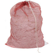 Mesh Bag W/ Drawstring Closure, Red, 18x30, Medium Weight - Pkg Qty 12