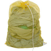 Mesh Bag W/ Drawstring Closure, Yellow, 18x30, Medium Weight - Pkg Qty 12
