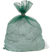 Mesh Bag W/ Dual Grip Rubber Closure, Green, 18x30, Medium Weight - Pkg Qty 12