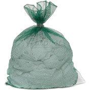 Mesh Bag W/ Dual Grip Rubber Closure, Green, 24x36, Medium Weight - Pkg Qty 12