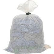 Mesh Bag with Dual Grip Rubber Closure, White, 24x36, Medium Weight - Pkg Qty 12