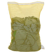 Mesh Bag W/ Nylon Zipper Closure, Yellow, 24x36, Medium Weight - Pkg Qty 12