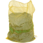 Mesh Bag W/Out Closure, Yellow, 30x40, Medium Weight - Pkg Qty 12