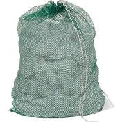 Mesh Bag W/ Drawstring Closure, Green, 30x40, Medium Weight - Pkg Qty 12