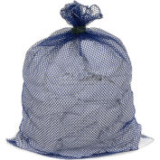 Mesh Bag W/ Dual Grip Rubber Closure, Blue, 30x40, Medium Weight - Pkg Qty 12