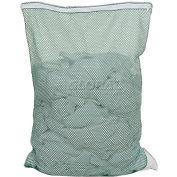 Mesh Bag W/ Nylon Zipper Closure, Green, 30x40, Medium Weight - Pkg Qty 12