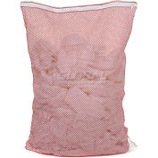 Mesh Bag W/ Nylon Zipper Closure, Red, 30x40, Medium Weight - Pkg Qty 12
