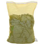 Mesh Bag W/ Nylon Zipper Closure, Yellow, 30x40, Medium Weight - Pkg Qty 12