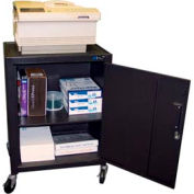 Mobile Metal Cabinet Cart - 24x18x34