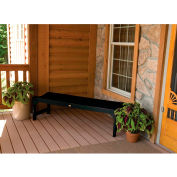 highwood® 4' Lehigh Backless Outdoor Bench, Eco Friendly Synthetic Wood In Black