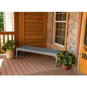 highwood® 4' Lehigh Backless Outdoor Bench, Eco Friendly Synthetic Wood In Coastal Teak