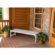 highwood® 4' Lehigh Backless Outdoor Bench, Eco Friendly Synthetic Wood In White