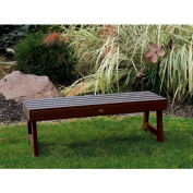 highwood® 4' Weatherly Backless Outdoor Bench, Eco Friendly Synthetic Wood In Weathered Acorn