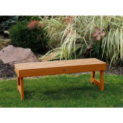 highwood® 4' Weatherly Backless Outdoor Bench, Eco Friendly Synthetic Wood In Toffee