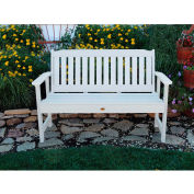 highwood® 4' Lehigh Outdoor Bench, Eco Friendly Synthetic Wood In White