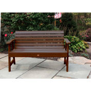 highwood® 5' Weatherly Outdoor Bench, Eco Friendly Synthetic Wood In Weathered Acorn