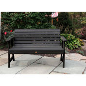 highwood® 4' Weatherly Outdoor Bench, Eco Friendly Synthetic Wood In Black