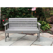 highwood® 4' Weatherly Outdoor Bench, Eco Friendly Synthetic Wood In Coastal Teak