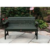 highwood® 4' Weatherly Outdoor Bench, Eco Friendly Synthetic Wood In Charleston Green