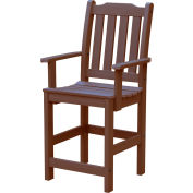 Highwood® Synthetic Wood Lehigh Counter Height Dining Chair With Arms, Weathered Acorn
