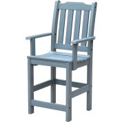 Highwood Synthetic Wood Lehigh Counter Height Dining Chair With Arms, Coastal Teak by Dining Room Chairs