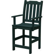 Highwood® Synthetic Wood Lehigh Counter Height Dining Chair With Arms, Charleston Green