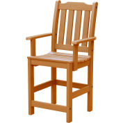 Highwood® Synthetic Wood Lehigh Counter Height Dining Chair With Arms, Toffee