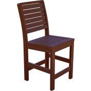 Highwood® Synthetic Wood Weatherly Counter Height Dining Chair With No Arms, Weathered Acorn