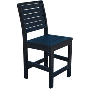 Highwood® Synthetic Wood Weatherly Counter Height Dining Chair With No Arms, Black